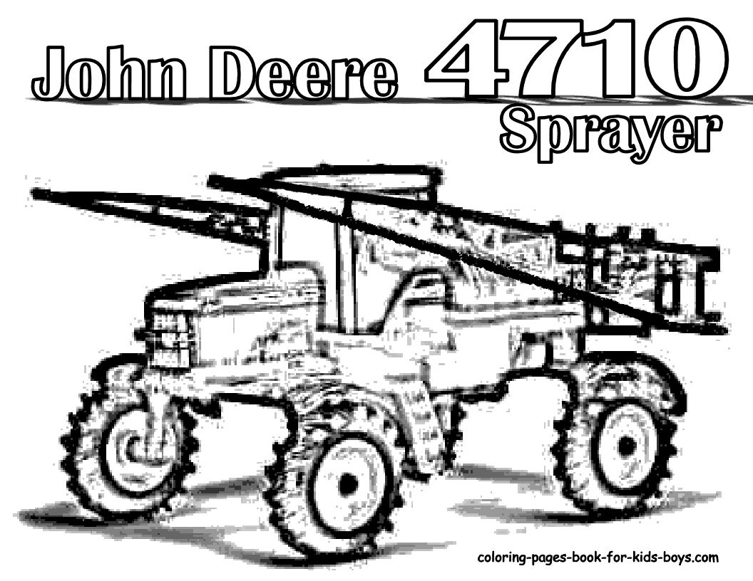 1056x816 John Deere Coloring Pages Free Archives Inside Combine Page