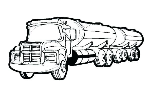 600x383 Tractor Trailer Coloring Pages Coloring Page Combine Harvester