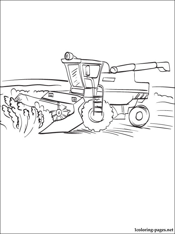 560x750 Coloring Page Combine Harvester Coloring Pages