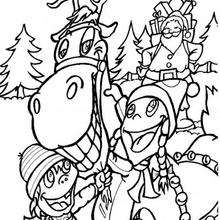 220x220 Comet And Rudolph Coloring Pages