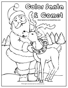 236x306 Comet The Reindeer Coloring Page