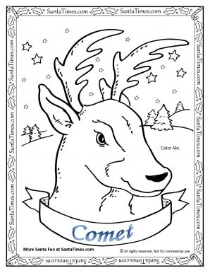 298x386 Reindeer Coloring Pages Photo Concept Santa's Antlers Sheets