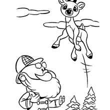 220x220 Comet, Reindeers And Sleigh Coloring Pages