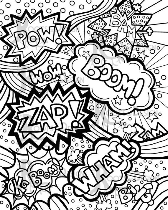 570x713 Comic Book Coloring Pages