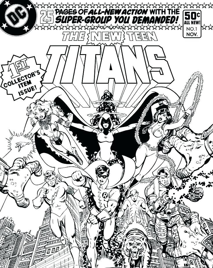 736x926 Comic Coloring Pages
