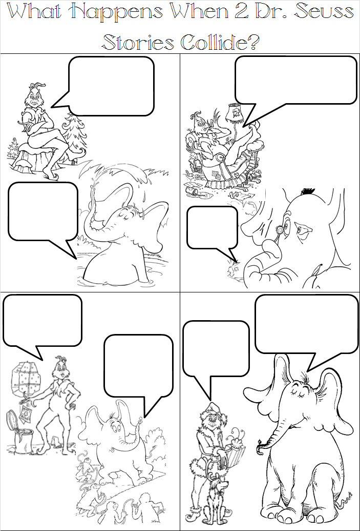 703x1035 Comic Strip Coloring Pages Dr Seuss Page I