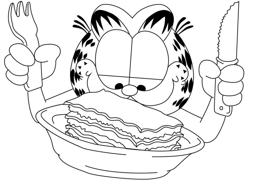 1024x737 Garfield Comic Strip Coloring Page Comic Strip Coloring Page