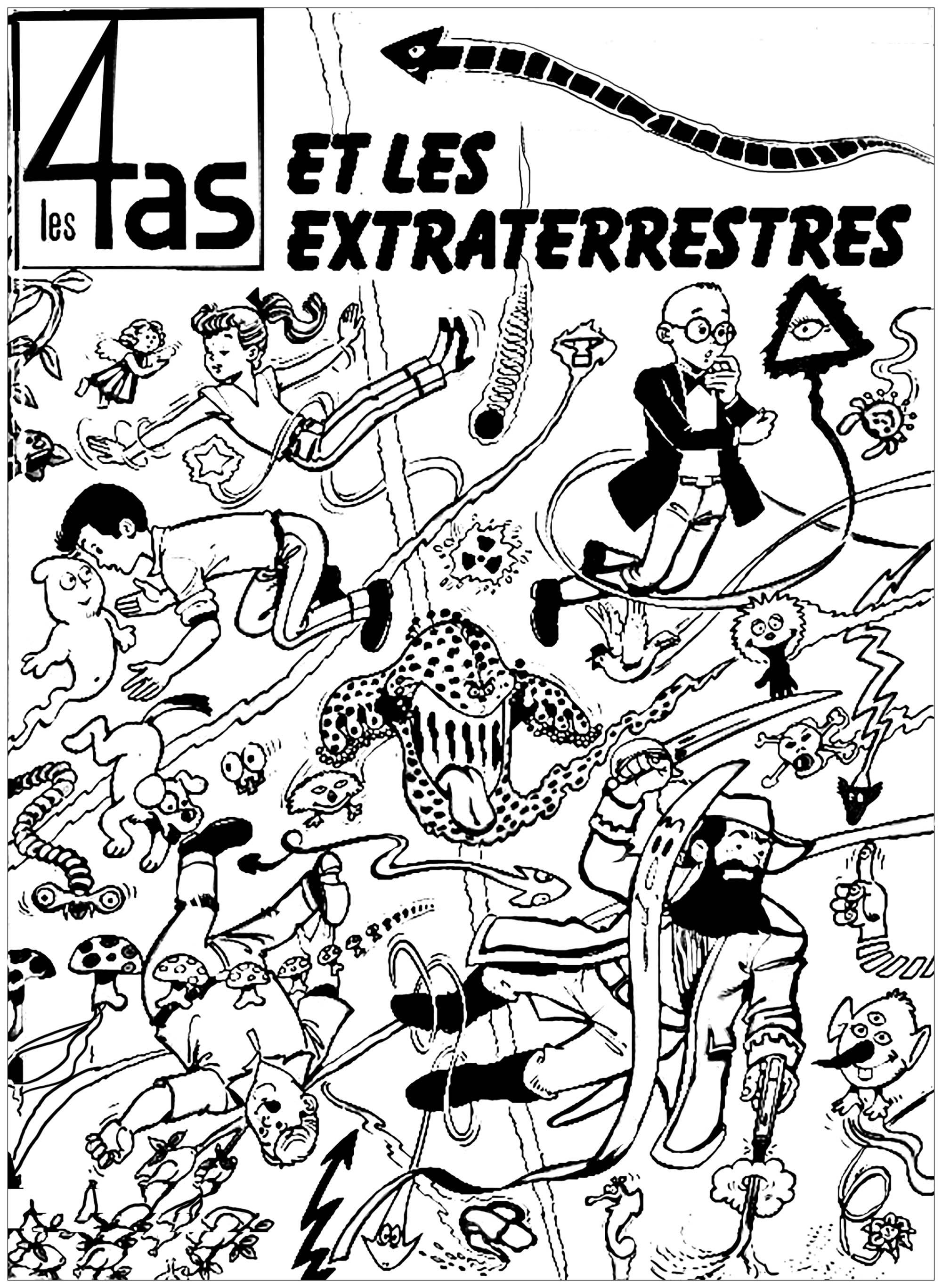 2000x2733 Strip Cartoon Cover Quatre As Aliens