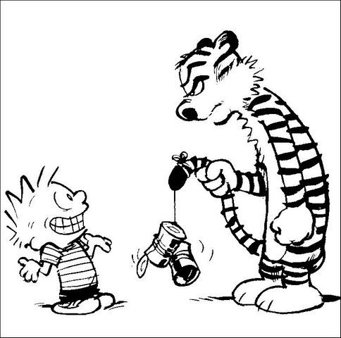 484x480 Calvin And Hobbes Coloring Pages