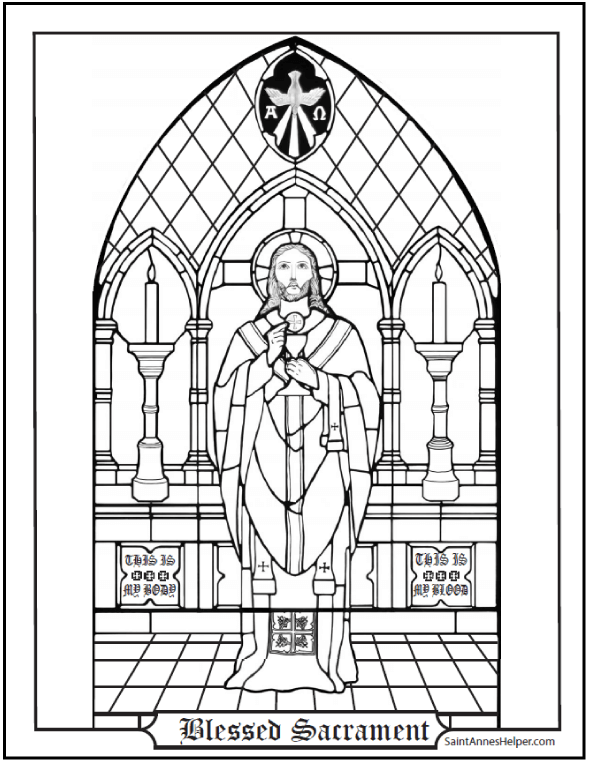 590x762 Blessed Sacrament Coloring Page
