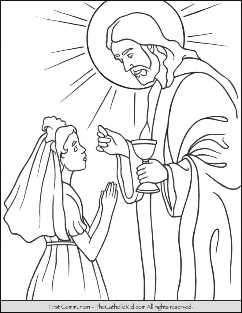 791x1024 Great First Communion Coloring Pages