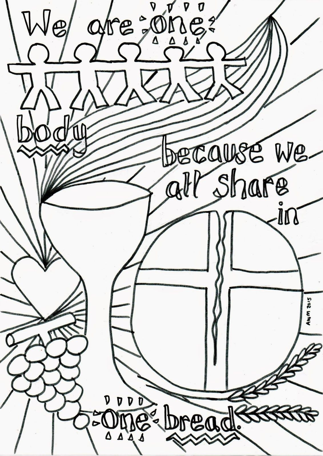 1131x1600 Holy Communion Reflective Colouring Sheet