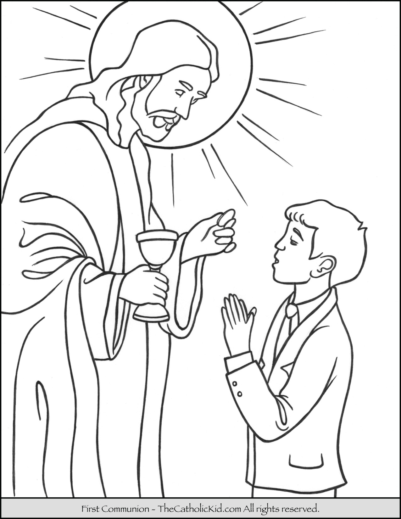1275x1650 Perfect Holy Communion Coloring Pages For Kids Free Printable