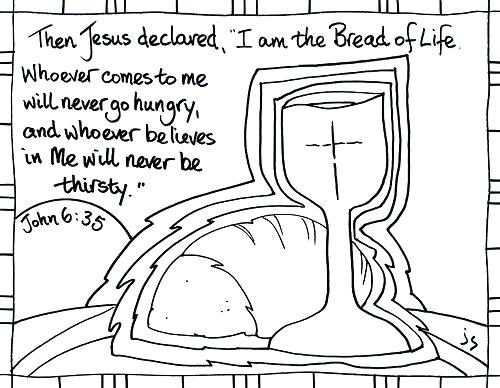 500x388 Saints Coloring Pages Communion Coloring Pages Bread Of Life