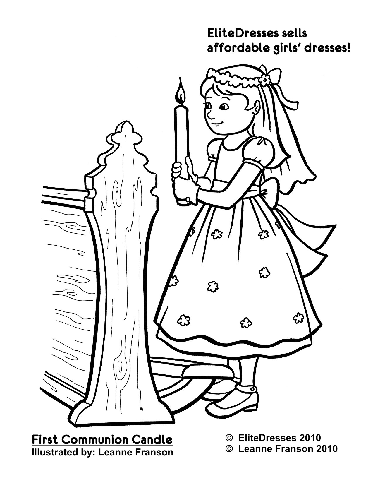 1275x1650 Superior Holy Communion Coloring Pages For Kids First Dress Free