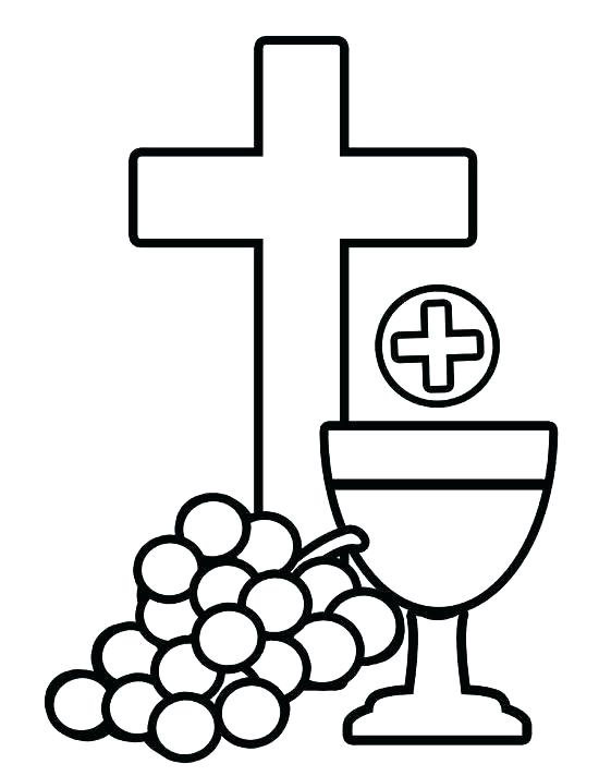 550x712 Communion Coloring Pages Communion Coloring Pages First Communion