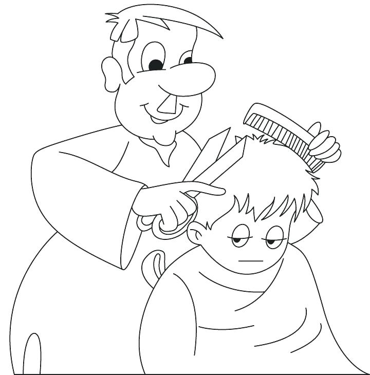 720x730 Community Helpers Coloring Page Barber Coloring Page Download Free