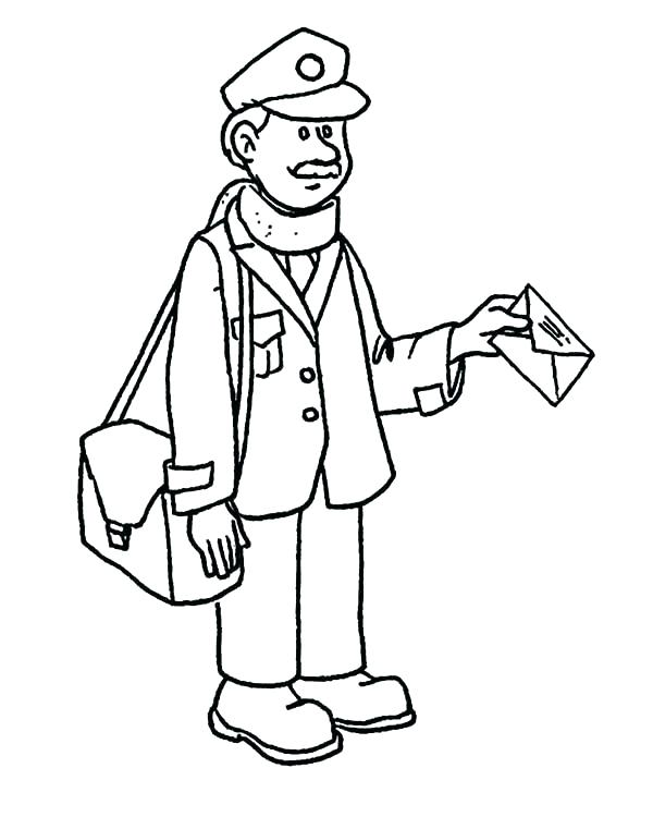 600x750 Community Helpers Coloring Page Community Helper Coloring Page