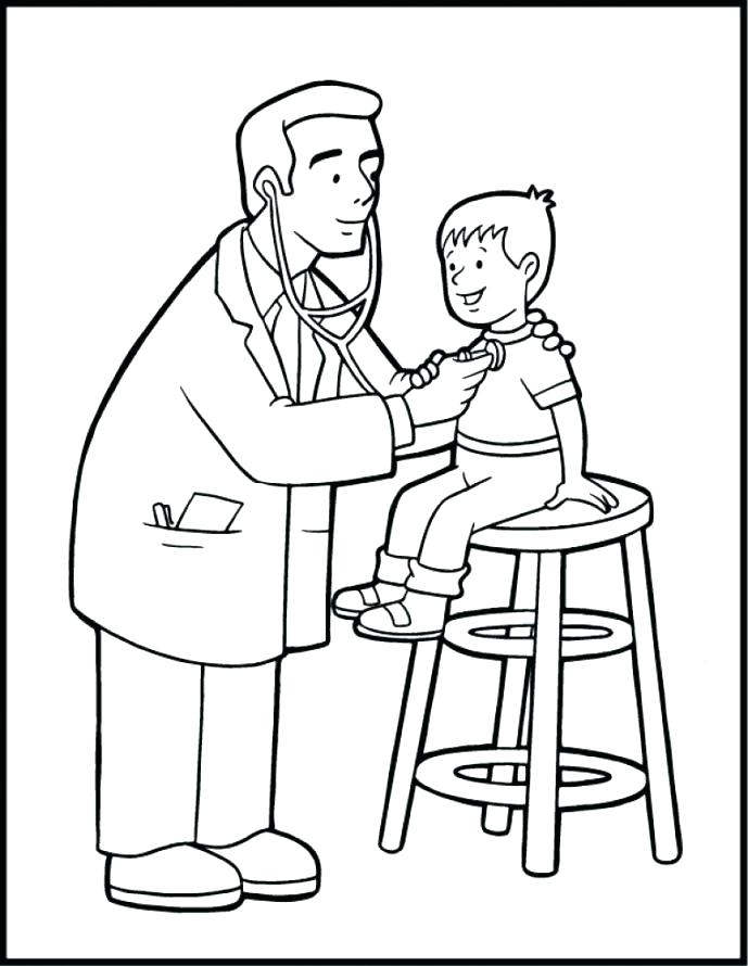 689x890 Community Helpers Coloring Pages Veterinarian Coloring Page
