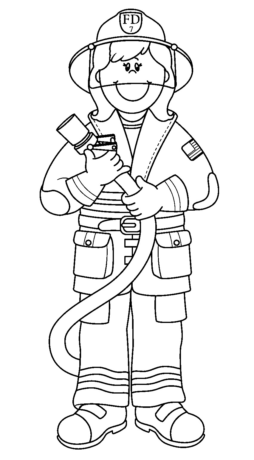 852x1544 Community Helpers Coloring Sheets