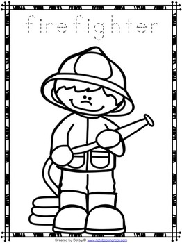 262x350 Free Community Helpers Tracing And Coloring Pages