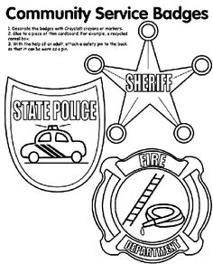 Community Service Coloring Pages