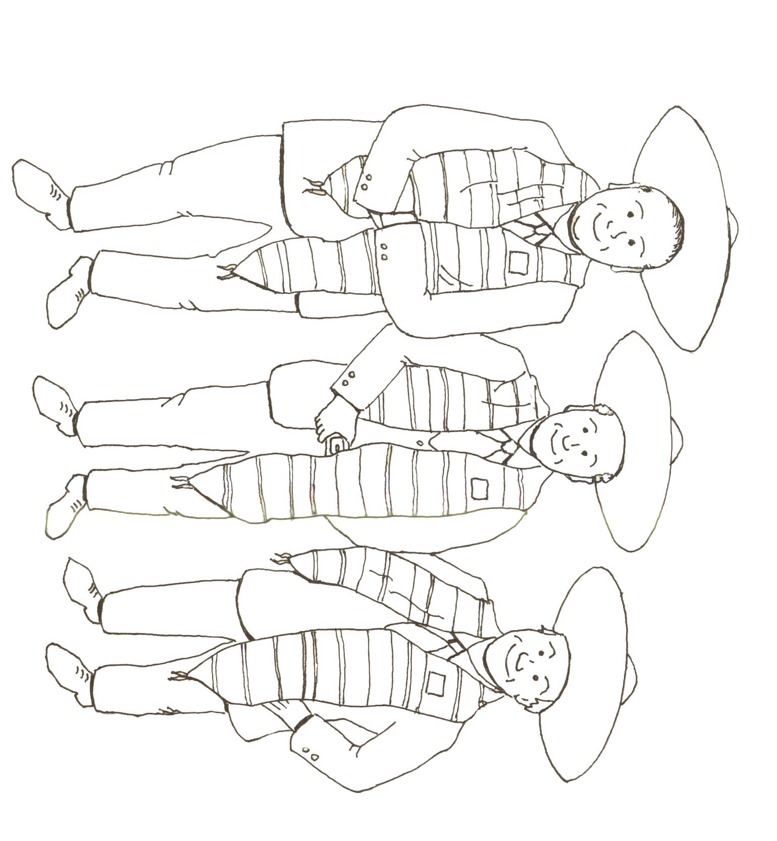 1539x1666 Community Bank Of Elmhurst Gt Three Amigos Coloring Page