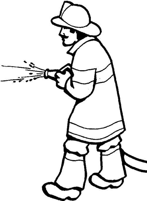500x682 Fireman Coloring Pages For Kids