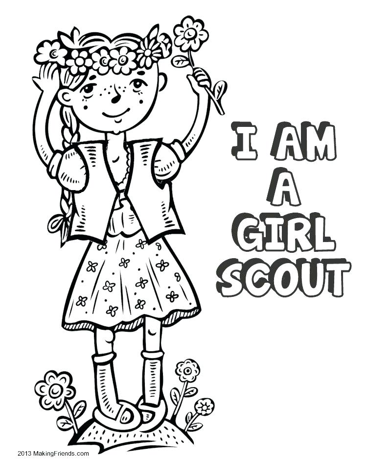 750x943 Girl Scout Promise And Law Printables Kids Coloring Service Hours
