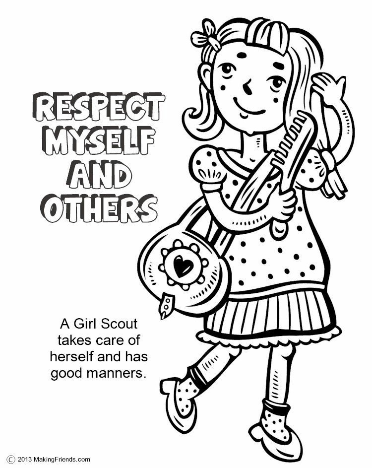 750x943 The Law, Respect Myself And Others Coloring Page