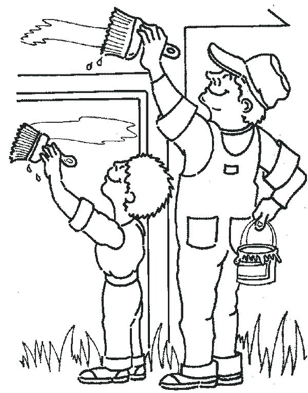 600x765 Community Workers Coloring Pages Printable Community Helpers