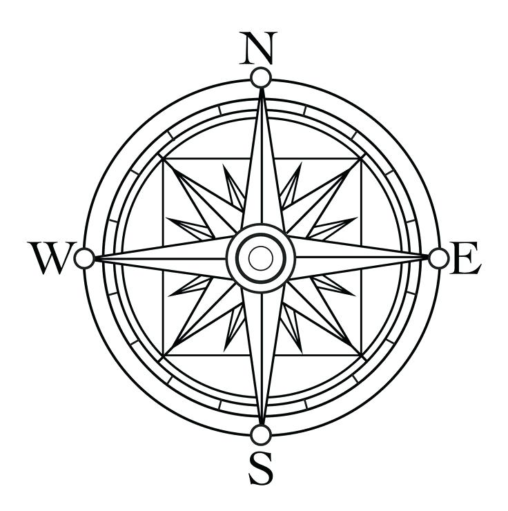 736x740 Compass Rose Coloring Page Best Compass Coloring Pages Free