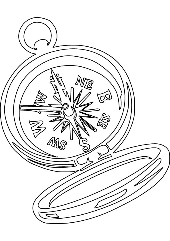 595x842 Compass Free Coloring Page