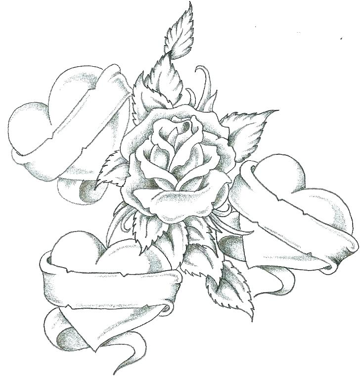 736x764 Hearts And Roses Coloring Pages Compass Rose Coloring Page