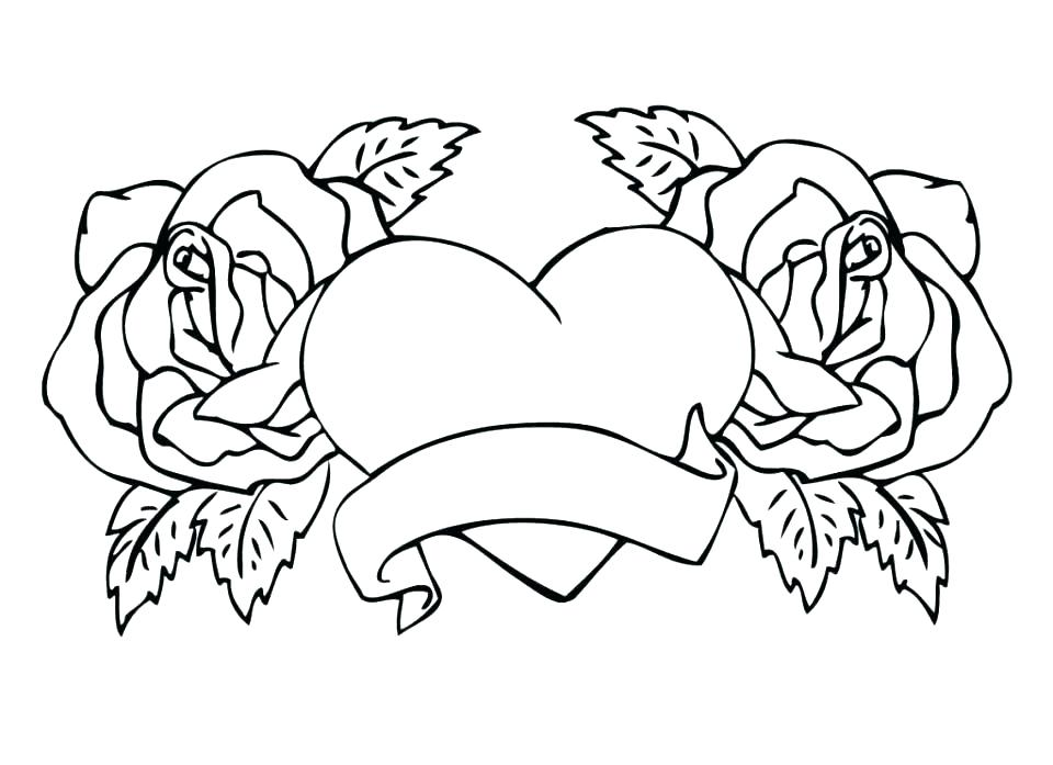 960x697 Roses Coloring Page Roses Coloring Pictures Rose Coloring Books