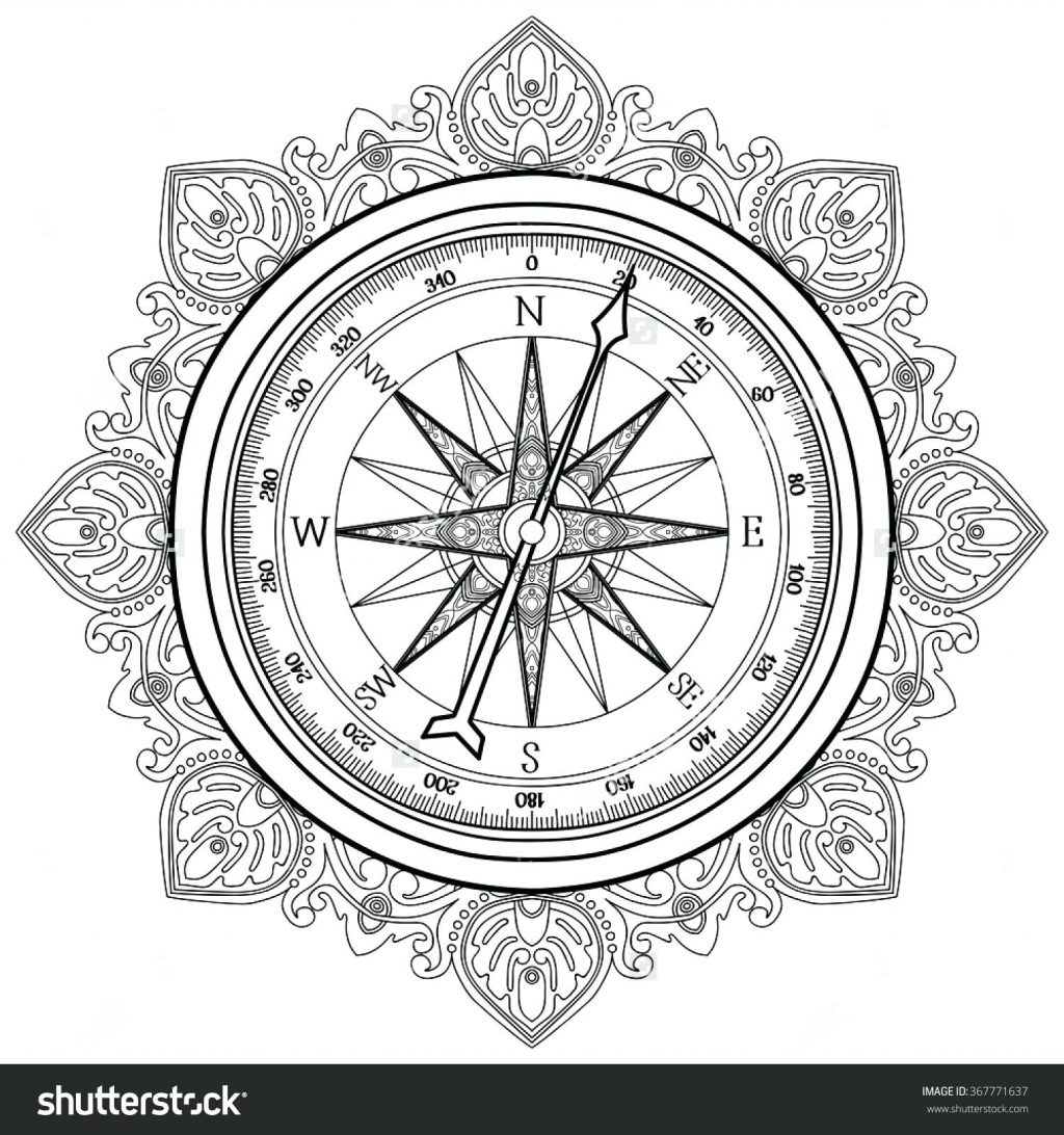 1024x1092 Coloring Page Nautical Coloring Pages Compass Image Result