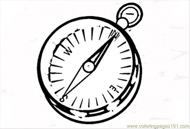 650x443 Compass Coloring Pages Compass Coloring Page Free North South