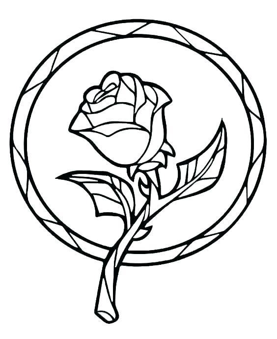 564x690 Rose Coloring Sheet
