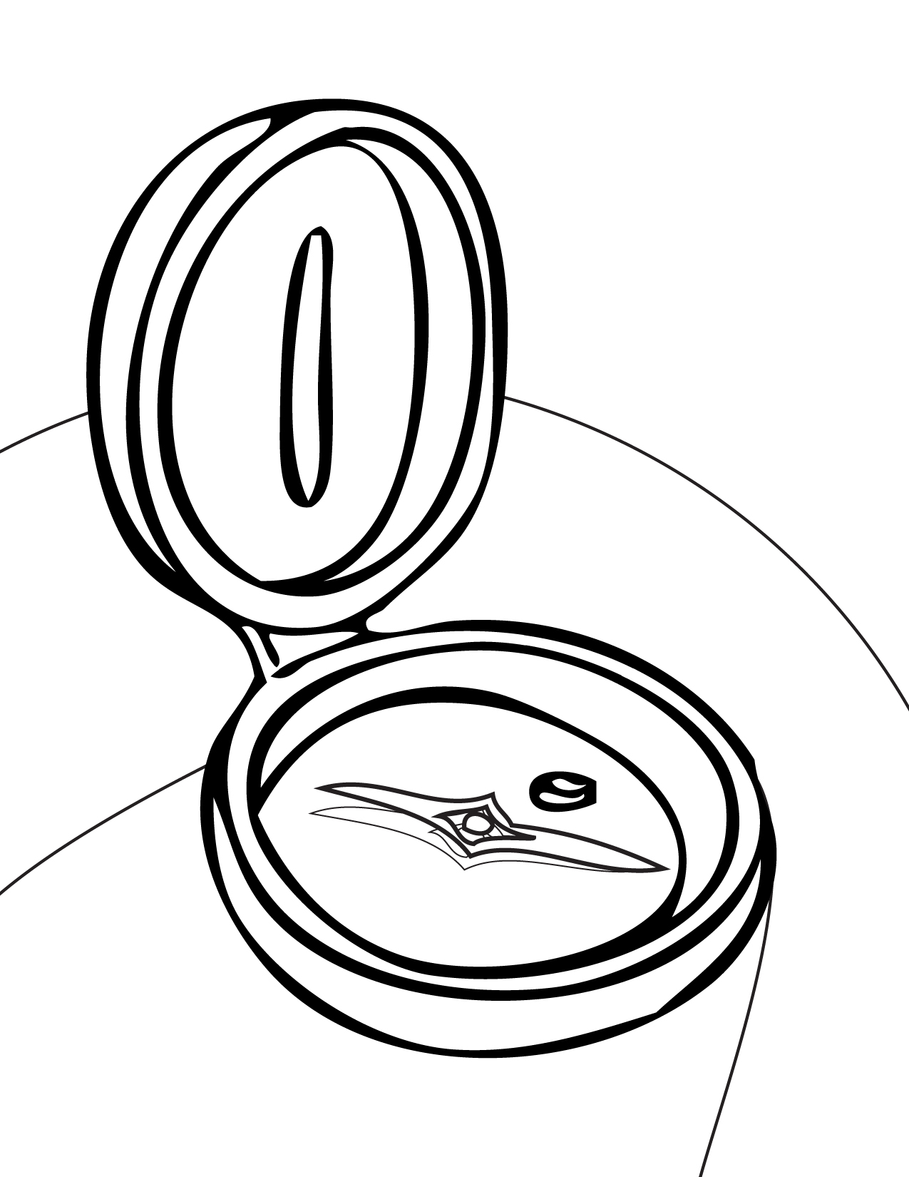 1275x1650 Compass Coloring Page