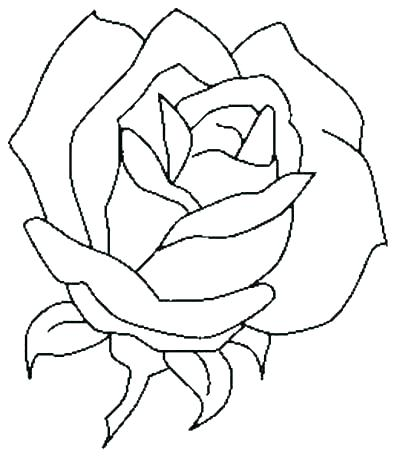 400x457 Coloring Pages Rose Rose With Thorns Coloring Page Free Coloring