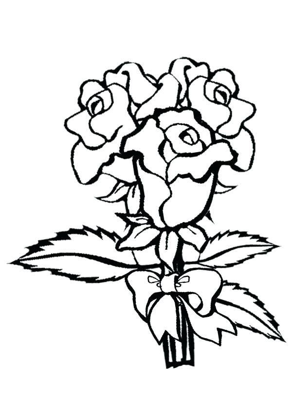 600x850 Rose Coloring Pictures Rose Coloring Pages Collection Of Solutions