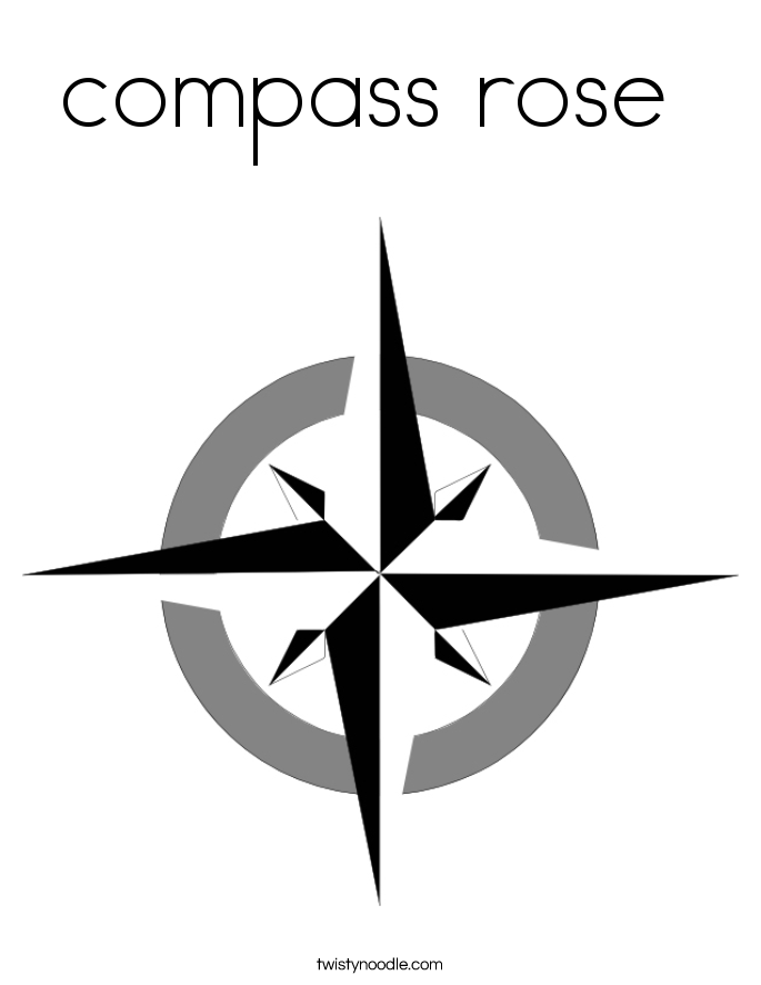 685x886 Compass Rose Coloring Page