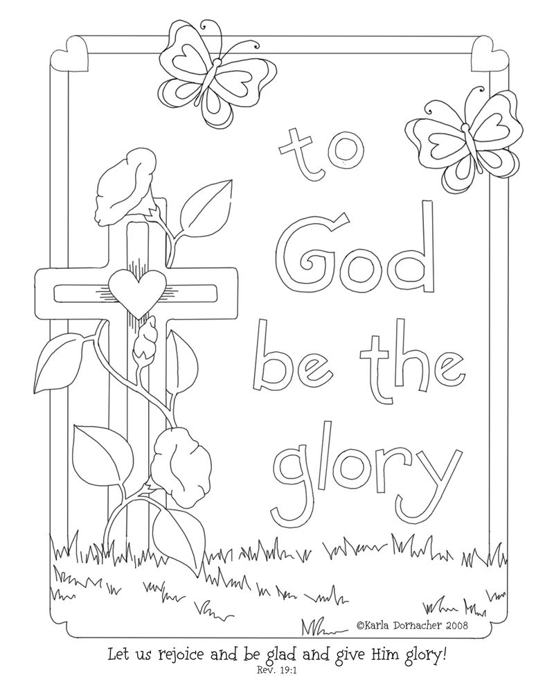800x1000 Glory Of The Lord Coloring Page! Compassion International