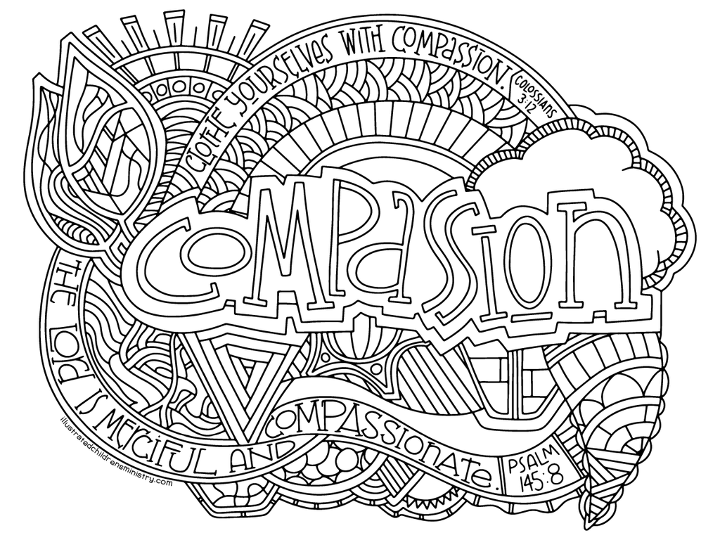1024x768 Illustrated Compassion Coloring Pages Illustrated Children