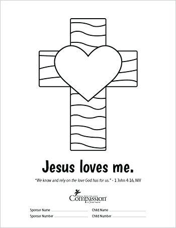 350x452 Jesus Loves You Color Superb Jesus Loves You Coloring Page