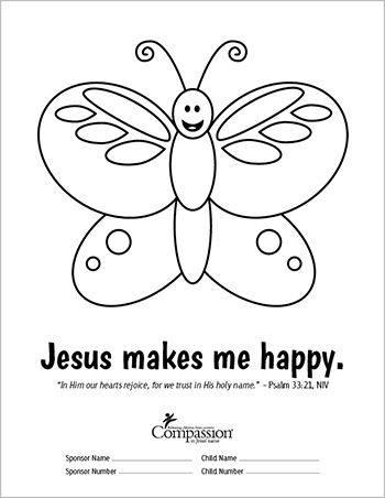 350x452 Send Your Sponsored Child Fun And Meaningful Coloring Sheets This