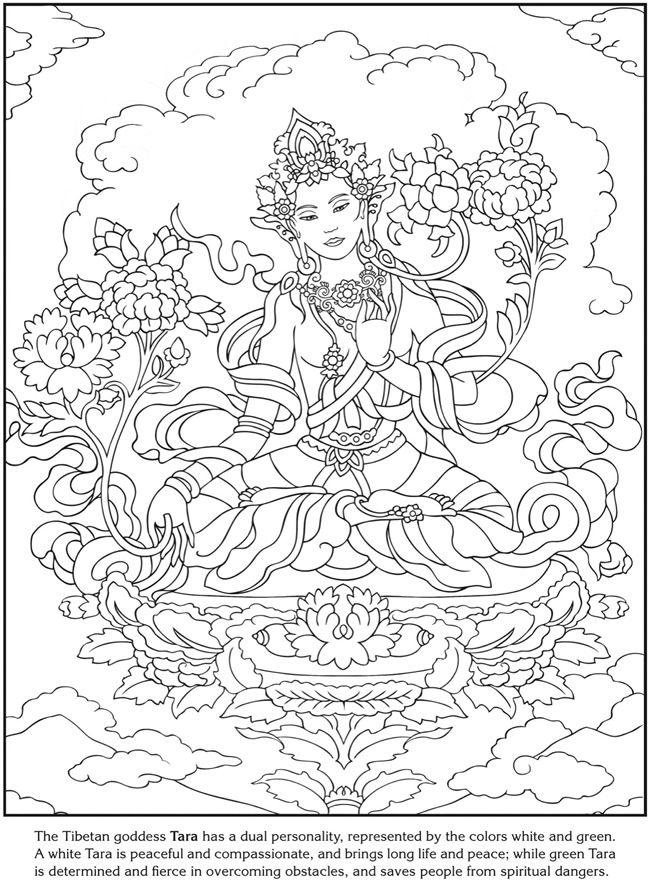 650x885 The Tibetan Goddess Tara, The Green And White Dual Personality