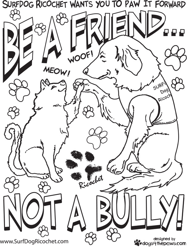 613x800 Compassion Coloring Pages Coloring Pages For Respect Surf Dog