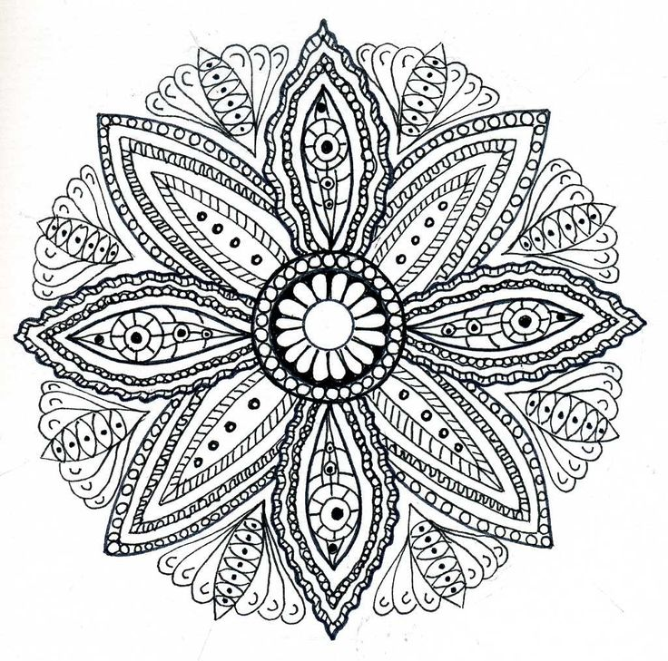Completed Adult Coloring Pages