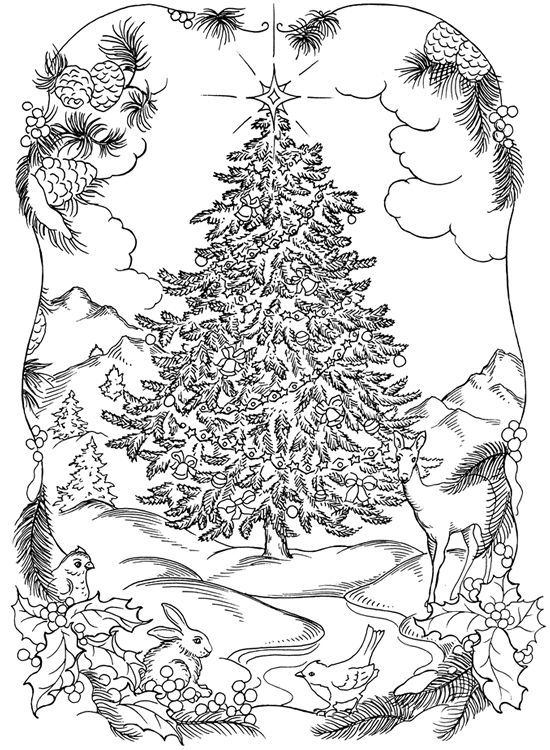Complex Christmas Coloring Pages